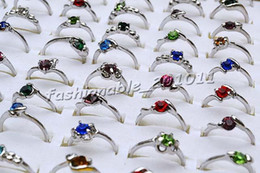 Wholesale Design Mixed Stainless Steel Rings - 2016 New Fashion 100pcs lot CZ Crystal Rhinestone & Silver P Rings Fashion Alloy Rings Mix Design #R192y