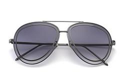 Wholesale Circle Color Lens - 2018 Classic Pilot Sunglasses Women's Men's UV400 Sunglasses Brand Designer Double Circle Pink Lens Transparent Glasses
