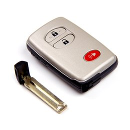 Wholesale New Toyota Key Shell - NEW No chip Remote Car Key Shell For Toyota 4 Runner Venza Case Fob 2+1 Button With Insert Small Key Blade