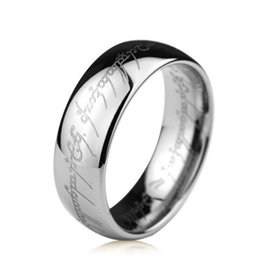 Wholesale Lord Rings Jewellery - Wholesale 8 6mm 8mm Jewellery The Lord of the Rings jewelry male tungsten rings lovers ring birthday gift wedding ring free shipping