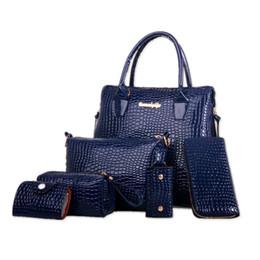 Wholesale Messenger Bag Men Discount - Wholesale-Women Handbag 6pcs Big Discount Patent Leather Shoulder Bags Ladies High Quality Tote Fashion Women Messenger Bags 0740