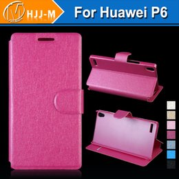 Wholesale Huawei Ascend P6 Pink - For Huawei honor P9 P9 plus Ascend P6 P7 Honor G750 3X Honor 6 Luxury Flip Wallet Leather Case With Card Slot