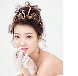 Wholesale Bridal Golden Crown - Restoring Ancient Ways Golden Swan Crowns Wedding Bridal Tiaras Jewelry Hair Accessories 2016 Spring Style