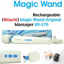 Hitachi varita masajeador personal online-Hot Original Hitachi Magic Wand Full Body Masajeador personal AV Potentes vibradores Caja Magic HV-270R empaquetado 110-250V relajado Gratis por DHL