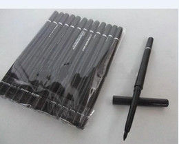 Wholesale black beauty cosmetics - 12 PCS lots of specialized cosmetics brand rotating scalable black and brown eyeliner beauty pen