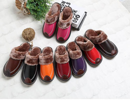 Wholesale Red Top Hotel - Luxury Flannel Winter Slippers Top Quality Men Women Home Shoes Plus Size 2017 New Fashion Warm Shoe for Parents 2DX12