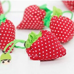 Wholesale Strawberry Boxes Wholesale - Creative strawberry shopping bag Reusable Folding Bags folding bag receive bag of environmental protection free shipping HK48
