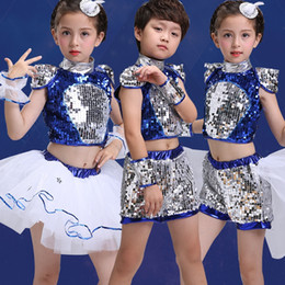 Wholesale Jazz Costumes For Girls - (10set)Children in costumes for boys and girls on the dance skirt costumes children jazz dance modern dance clothing by Fedex