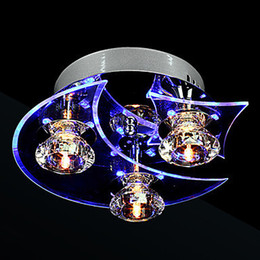 Wholesale Luminaire Cristal - Luminaire LED Modern Crystal Ceiling Light Lamp With 3 Lights For Living Room Lustres De Cristal Free Shipping