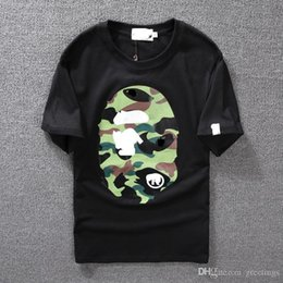 Wholesale Men Wear Clothes - Men's Clothing Wear Tide Brand Camo Printing Men Women Lovers Fund Round Neck Short Sleeve T shirt
