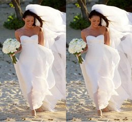 Wholesale Crystal Gold Fox - DN Hot New Megan Fox Gorgeous Sweetheart Empire Chiffon Wedding Dress Simple Beach Bridal Gowns For Maternity Women Fall Bridal Gowns 2016