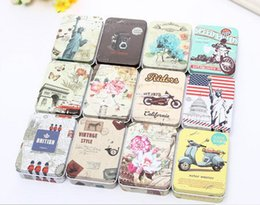 Wholesale Wholesale Tin Jars - Colorful mini tin Metal box Sealed jar packing boxes jewelry candy box small storage cans Coin earrings headphones gift box