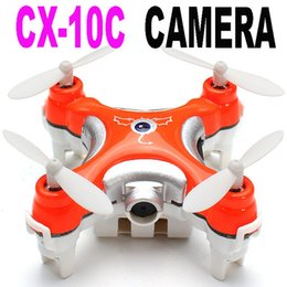 Wholesale Control Lens - New Cheerson CX-10C Remote Control RC Helicopter Drone Quadcopter With Camera VS cx-10 mjx x400 x600 x101 syma x5c x5sw jjrc h20