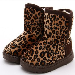 Wholesale Leopard Shoes For Babies - Fashion Children's Snow Boots Leopard Flat Warm Winter Boots For Baby Girl Boy Warm Winter Shoes 2014 New