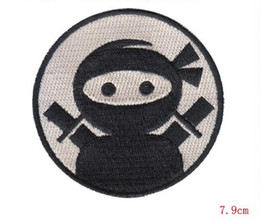 Wholesale Wholesalers Sell Embroidery Clothing - Hot Selling ! Punk Rock Personality japanese love Ninja Iron on 7.9CM Cloth Decoration embroidery patch