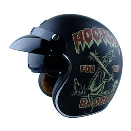 Wholesale vintage scooter helmets - wholesale New arrival brand TORC T57 vintage motorcycle helmet scooter open face helmet Captain america 3 4 capacete with inner lens