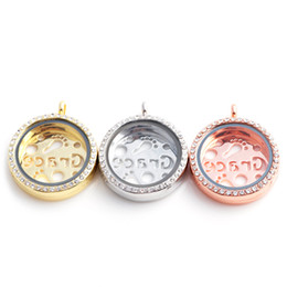 Wholesale Hollow Box Lockets - Top Zinc Alloy Pendant Jewelry Accessories Fram boxes magnetic floating charm locket grace hollowed-out design With Rhinestone Fine Jewelry