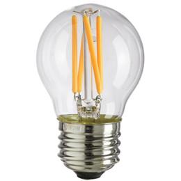 Wholesale Clear Globe Led - Dimmable,G45 Clear Glass , 4W,Edison LED Filament Bulb,Warm Cool White,E26 E27 Base Lamp,110V 220VAC