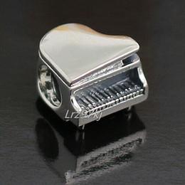 Wholesale Piano Pendant - 100% High-quality 2015 925 Sterling Silver Piano Bead Fits European Pandora Jewelry Bracelets Necklaces & Pendants Charm