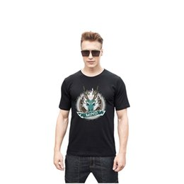 Wholesale Black Water Dragon - Men Water Dragon Print T-Shirt Pullovers Cotton Short Sleeve T-Shirt