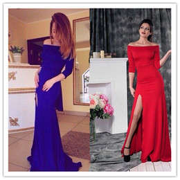 Wholesale Sexy Foot Wear - Foreign trade in Europe and women wear long sexy dresses slit at the neck foot party bandage dress A1233