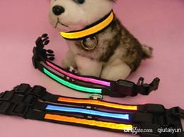 2019 bague de chien en plastique 2015 HOT 7colors LED collier de chien clignotant LED collier de collier pour animal de compagnie / collier de chat collier de dressage de chien collier 10PCS 5181