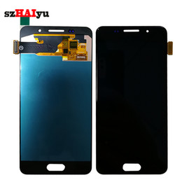 Wholesale Lcd Oled - HD OLED AMOLED Display Screen For Samsung Galaxy A3 2016 A310 A310F A310H A310M A310Y LCD Display +Touch Screen Digitizer Assembly Tools