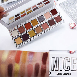 Wholesale Christmas Eyeshadow Palette - Kylie Jenner Naughty Nice Eyeshadow Palette 14 colors Eye shadow Shimmer and Matte eye shadow Christmas Gift DHL Shipping