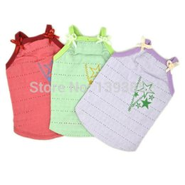 Wholesale Small Cotton Doggie Clothes - doggie summer sports wear pets cotton waistcoat puppy tank top chien casual vest perros tee shirt poodle sweater maltese clothes