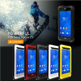 Wholesale Love Mei Powerful - New Love Mei Powerful Waterproof Aluminum Metal Cover Case For Sony Xperia Z3