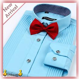 Wholesale red tuxedo shirts - Wholesale-Designer Brand Clothing camisas Men Shirts Long Sleeve Tuxedo mens dress shirts camisa masculina plus size XXXXXL