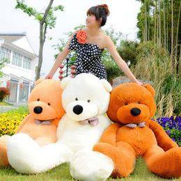 "Wholesale Teddy Bear 72 - 2016 new hot sale 6.3 FEET TEDDY BEAR STUFFED LIGHT BROWN GIANT JUMBO 72"" size:160cm birthday gift"
