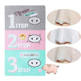 Wholesale Perfect Cleaners - DHL Free Shipping Pig Nose Clear Black Head Perfect Sticker 3 steps Clear Black Head Mask Blackhead Remover In Stock