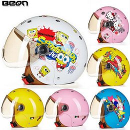 Wholesale Child Motorcycle Helmet - 2016 New Netherlands BEON children half face motorcycle helmet child electric bicycle helmets made of ABS B-103ETK drop FREE SIZE