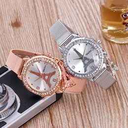 Wholesale Glass Eiffel Towers - New steel belt fashion lady watches, Eiffel Tower quartz watch watches, hot manufacturers wholesale