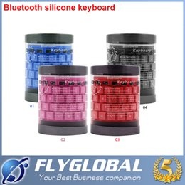 Wholesale Silicone Keyboard Universal - Portable Universal Bluetooth Wireless Keyboard for Tablet PC iPad Waterproof Dustproof Flexible Soft Silicone Foldable Retail Package DHL