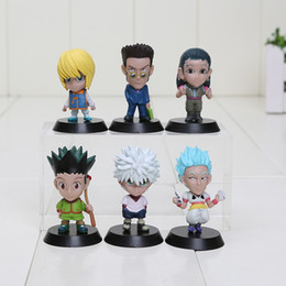 Wholesale Hunter Figures - 6pcs set Hunter X Hunter Gon Freecss Killua Zoldyck Kurapika Leorio Hyskoa PVC Action Figure Model Toys