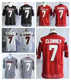 Wholesale American Football College Jerseys - Factory Outlet- Discount 7 Jadeveon Clowney College Jersey American South Carolina Gamecocks Football Jerseys Home Road Red Black White Gray