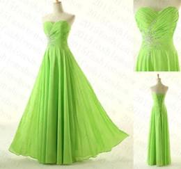Wholesale Cheap Long Lace Maxi Dress - Cheap Lime Green Prom Dress Sweetheart A Line Long Chiffon Women Maxi Dress Available Plus Size