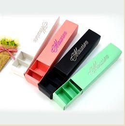 Wholesale Macaron Paper - 200pcs lot home made macaron black blue green macaron box biscuit Muffin box Free Shipping By DHL