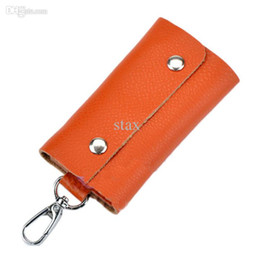 Wholesale cheap candy holders - Wholesale-Amazing Potable Fashion Mini Key Wallets,Cheap Candy Color Pu Leather Bags For Key Holders Women