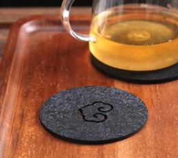 Wholesale Nylon Coffee - Hot Felt Coaster Cup mats Cartoon Pad fabric Cup Mug Mat Coffee Tea Holder Home Decor