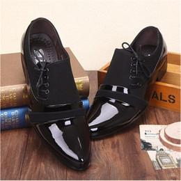 Wholesale Wedding Dresses For Men Suits - Office Men Dress Shoes for Men Suit Shoes Italian Wedding Man Casual Shoes Oxfords Man Flats Leather Shoes