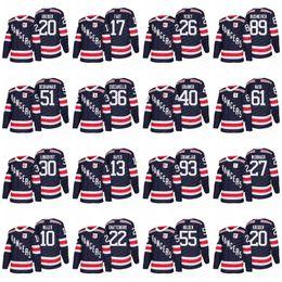 Wholesale Dark Red Xl - 2018 Winter Classic New York Rangers Jerseys 30 Henrik Lundqvist 36 Mats Zuccarello 27 Ryan McDonagh 61 Rick Nash Dark Blue White