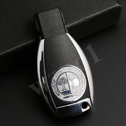 Wholesale Metal Decals - AMG Sz L 25mm Alloy Silver KEY FOB Button 1 Pcs Sticker Badge Decal for