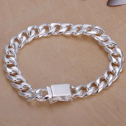 Wholesale Silver Box Chain Bracelet - New silver bracelet, the male and female fashion hand catenary, LKNSPCH037 free shipping, wholesale price, Chinese factories