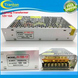 Canada 12V 15A 180W 110V-220V Transformateurs d'éclairage de haute qualité safy Driver pour LED bande 5050 5730 alimentation Offre