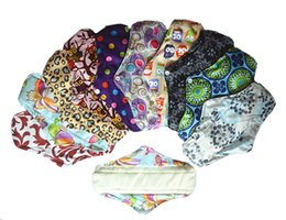 Wholesale Media Choice - [Sigzagor]Bamboo Cloth Menstrual Sanitary Maternity Mama Pads, Reusable Washable 10in Regular Light Flow,Medium, M 17 Choice