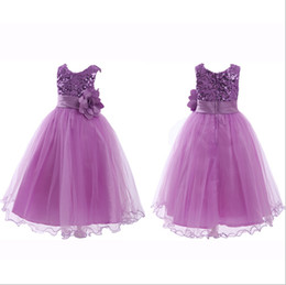 Wholesale Infant Christmas Pictures - 2015 NEW Purple Navy Sequined Tutu Flower Girl Dresses Birthday Girl Party Dress Infant Baby Girls Communion Dresses