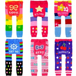 Wholesale Baby Girl Busha - Stripe Colorful Baby PP Pants 18pair lot free shipping Busha New Arrival Baby Clothes Boys Trousers Girls Leggings Leg Warmers